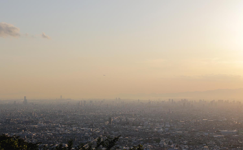 生駒山からの風景